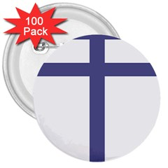 Patriarchal Cross  3  Buttons (100 Pack)  by abbeyz71
