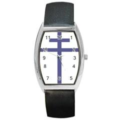Patriarchal Cross  Barrel Style Metal Watch by abbeyz71