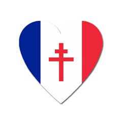 Flag Of Free France (1940 1944) Heart Magnet by abbeyz71