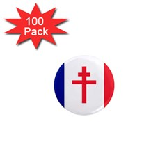 Flag Of Free France (1940 1944) 1  Mini Magnets (100 Pack)  by abbeyz71