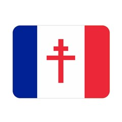 Flag Of Free France (1940 1944) Double Sided Flano Blanket (mini)  by abbeyz71