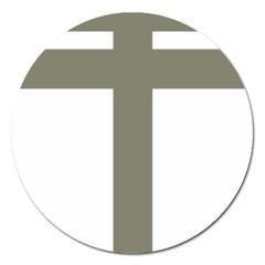 Cross Of Lorraine  Magnet 5  (round) by abbeyz71