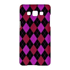 Plaid Pattern Samsung Galaxy A5 Hardshell Case  by Valentinaart