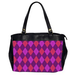Plaid Pattern Office Handbags (2 Sides)  by Valentinaart