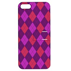 Plaid Pattern Apple Iphone 5 Hardshell Case With Stand by Valentinaart
