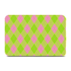 Plaid Pattern Plate Mats by Valentinaart