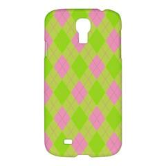Plaid Pattern Samsung Galaxy S4 I9500/i9505 Hardshell Case by Valentinaart