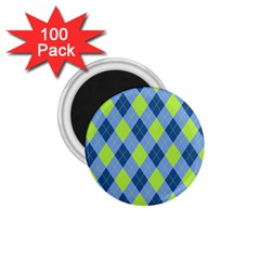 Plaid Pattern 1 75  Magnets (100 Pack)  by Valentinaart