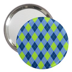 Plaid Pattern 3  Handbag Mirrors by Valentinaart