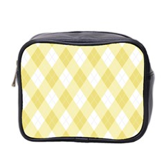 Plaid Pattern Mini Toiletries Bag 2 Side by Valentinaart