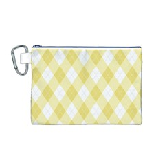 Plaid Pattern Canvas Cosmetic Bag (m) by Valentinaart