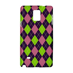 Plaid Pattern Samsung Galaxy Note 4 Hardshell Case by Valentinaart