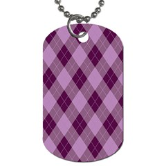 Plaid Pattern Dog Tag (two Sides) by Valentinaart