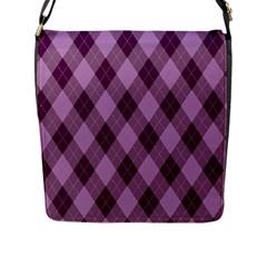 Plaid Pattern Flap Messenger Bag (l)  by Valentinaart
