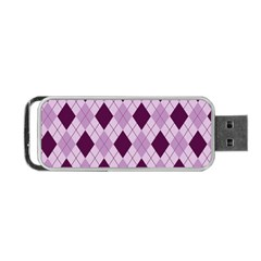 Plaid Pattern Portable Usb Flash (two Sides) by Valentinaart