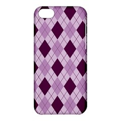 Plaid Pattern Apple Iphone 5c Hardshell Case by Valentinaart