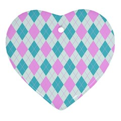 Plaid Pattern Ornament (heart) by Valentinaart