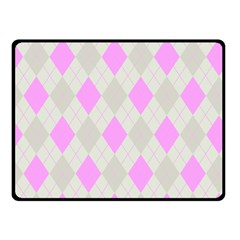 Plaid Pattern Fleece Blanket (small) by Valentinaart