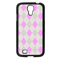 Plaid Pattern Samsung Galaxy S4 I9500/ I9505 Case (black) by Valentinaart