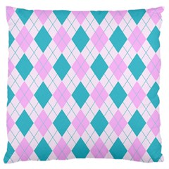 Plaid Pattern Large Cushion Case (one Side) by Valentinaart