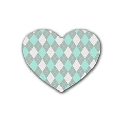 Plaid Pattern Heart Coaster (4 Pack)  by Valentinaart