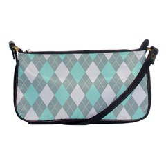 Plaid Pattern Shoulder Clutch Bags by Valentinaart