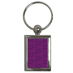 Plaid Pattern Key Chains (rectangle)  by Valentinaart