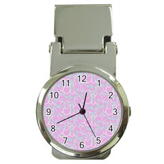 Plaid Pattern Money Clip Watches by Valentinaart