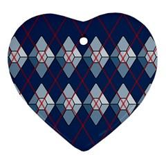 Diamonds And Lasers Argyle  Ornament (heart) by emilyzragz