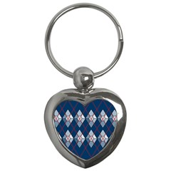 Diamonds And Lasers Argyle  Key Chains (heart)  by emilyzragz