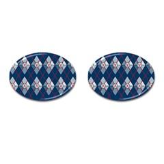 Diamonds And Lasers Argyle  Cufflinks (oval) by emilyzragz