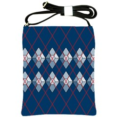 Diamonds And Lasers Argyle  Shoulder Sling Bags by emilyzragz