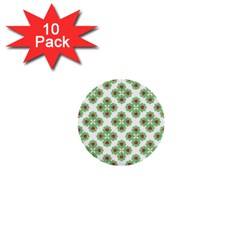 Floral Collage Pattern 1  Mini Buttons (10 Pack)  by dflcprints