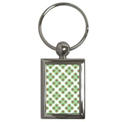 Floral Collage Pattern Key Chains (rectangle)  by dflcprints