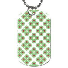 Floral Collage Pattern Dog Tag (one Side) by dflcprints