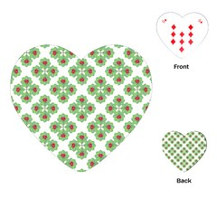 Floral Collage Pattern Playing Cards (heart)  by dflcprints