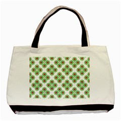 Floral Collage Pattern Basic Tote Bag (two Sides) by dflcprints