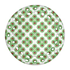 Floral Collage Pattern Ornament (round Filigree) by dflcprints