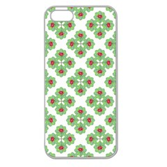 Floral Collage Pattern Apple Seamless Iphone 5 Case (clear) by dflcprints