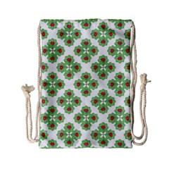 Floral Collage Pattern Drawstring Bag (small) by dflcprints