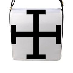 Cross Potent Flap Messenger Bag (l)  by abbeyz71