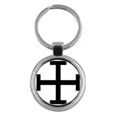Cross Potent  Key Chains (round)  by abbeyz71