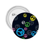 Peace & Love Pattern 2.25  Buttons