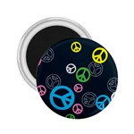 Peace & Love Pattern 2.25  Magnets