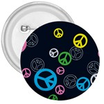 Peace & Love Pattern 3  Buttons