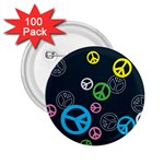 Peace & Love Pattern 2.25  Buttons (100 pack)