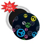 Peace & Love Pattern 2.25  Magnets (100 pack)