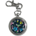 Peace & Love Pattern Key Chain Watches