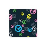 Peace & Love Pattern Square Magnet
