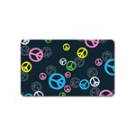 Peace & Love Pattern Magnet (Name Card)